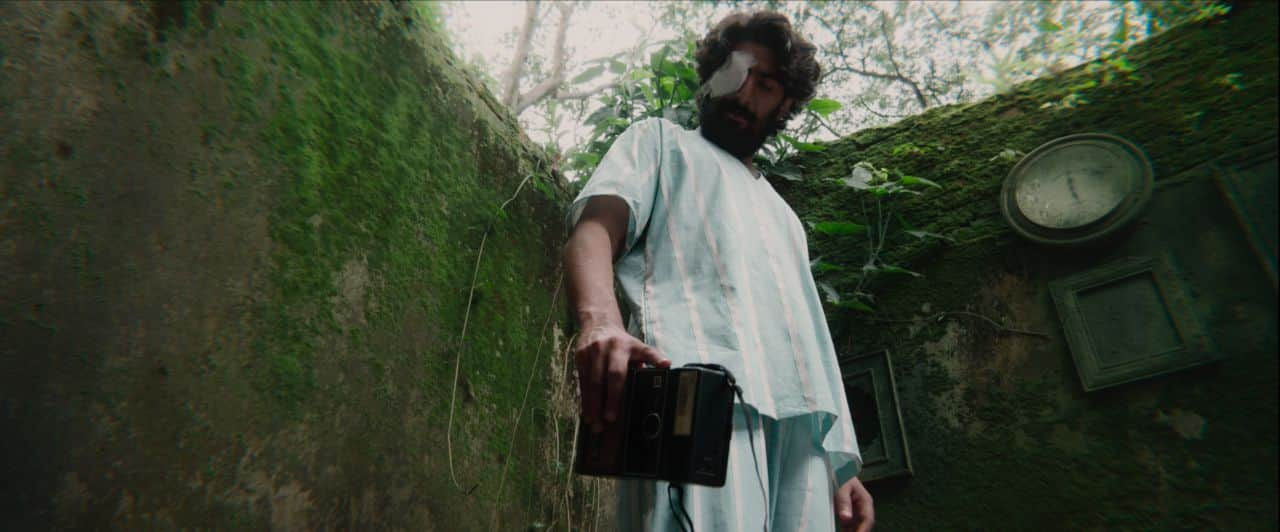 A still from the music video 'Oblivion'.