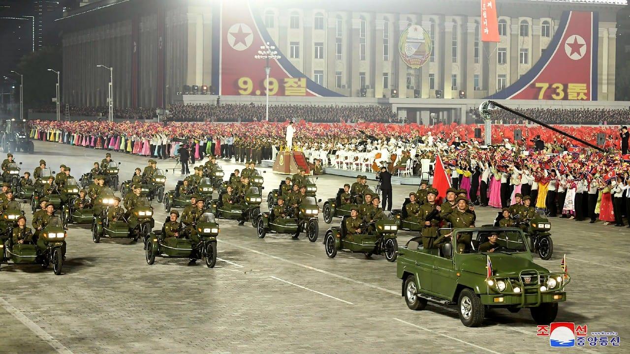 In Pics   North Korea Leader Kim Jong Un Presides Over Toned-down Civil  Defense Parade