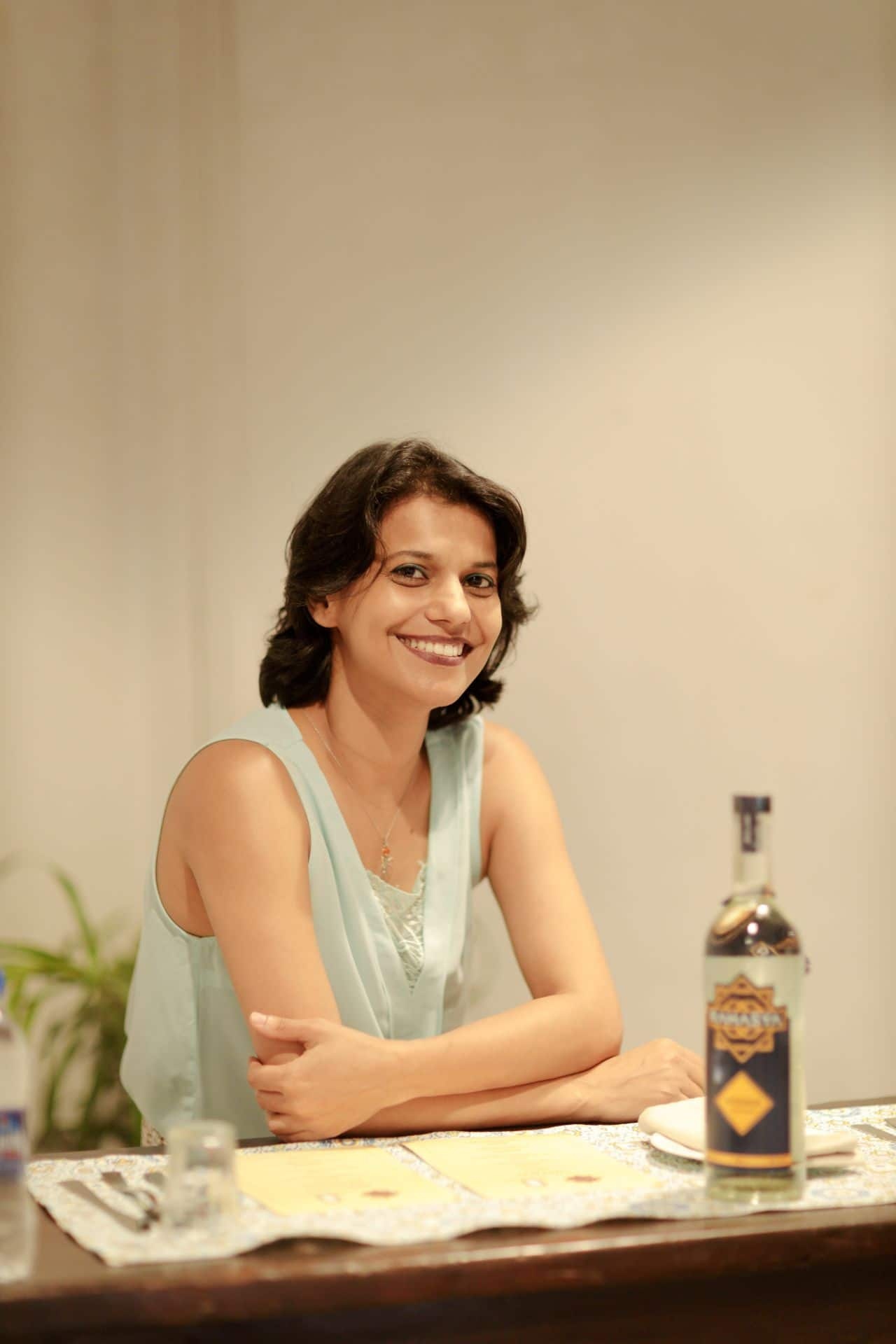 Varna Bhat, founder of Goa-based Blisswater Industries, which makes Rahasya flavoured vodka.